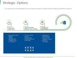 Strategic Options Ppt Powerpoint Presentation Slides Inspiration