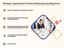 Strategic Organization Finance Restructuring Objectives Ppt Sample