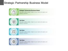 Strategic Partnership Business Model Ppt Powerpoint Presentation Professional Portfolio Cpb