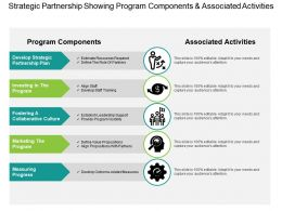 Strategic Partnership Showing Program Components And Associated Activities