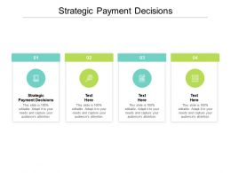 Strategic Payment Decisions Ppt Powerpoint Presentation Layouts Pictures Cpb