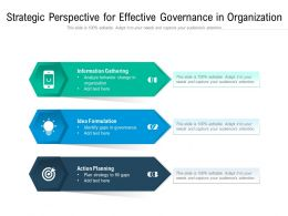 Strategic Perspective For Effective Governance In Organization