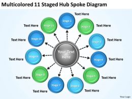 Strategic Plan 11 Staged Hub Spoke Diagram Powerpoint Templates PPT Backgrounds For Slides 0523