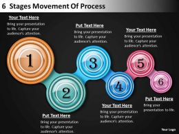 Strategic Plan 6 Stages Movement Of Process Powerpoint Templates PPT Backgrounds For Slides