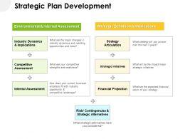 Strategic Plan Development Ppt Powerpoint Presentation Gallery Example