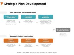 Strategic Plan Development Strategy Articulation Ppt Powerpoint Presentation Outline Clipart