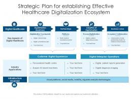 Strategic Plan For Establishing Effective Healthcare Digitalization Ecosystem