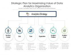 Strategic Plan For Maximizing Value Of Data Analytics Organization
