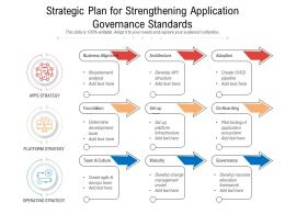 Strategic Plan For Strengthening Application Governance Standards