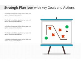 Strategic Plan Icon With Key Goals And Actions