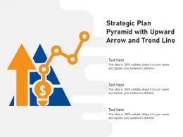 Strategic Plan Pyramid With Upward Arrow And Trend Line