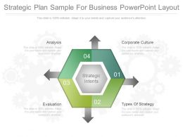 Strategic Plan Sample For Business Powerpoint Layout