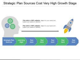Strategic Plan Sources Cost Very High Growth Stage