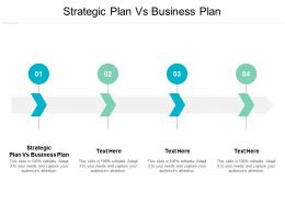 Strategic Plan Vs Business Plan Ppt Powerpoint Presentation Pictures Outfit Cpb
