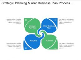 Strategic Planning 5 Year Business Plan Process Strategy Cpb