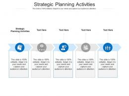 Strategic Planning Activities Ppt Powerpoint Presentation Pictures Designs Cpb