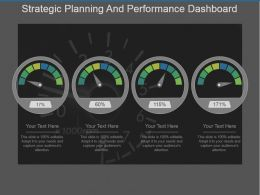 Strategic Planning And Performance Dashboard Ppt Slide Design