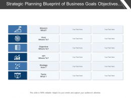 Strategic Planning Blueprint Of Business Goals Objectives Strategies