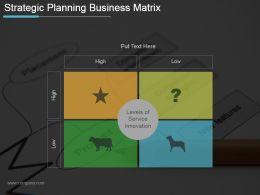 Strategic Planning Business Matrix Ppt Design Templates