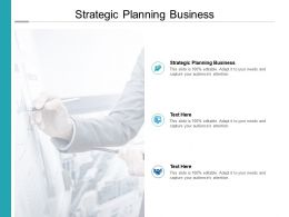 Strategic Planning Business Ppt Powerpoint Presentation Backgrounds Cpb