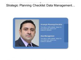 Strategic Planning Checklist Data Management 5 Year Business Plan Cpb