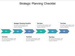 Strategic Planning Checklist Ppt Powerpoint Presentation Outline Outfit Cpb