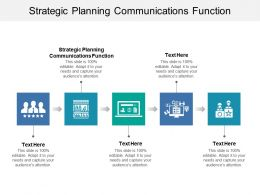 Strategic Planning Communications Function Ppt Powerpoint Presentation Slides Display Cpb