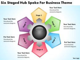 Strategic Planning Consultant Six Staged Hub Spoke For Business Theme Powerpoint Slides 0523