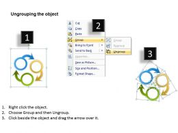 Strategic Planning Consultant Three Staged Circular Process Flow Powerpoint Slides 0523