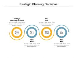 Strategic Planning Decisions Ppt Powerpoint Presentation Summary Themes Cpb