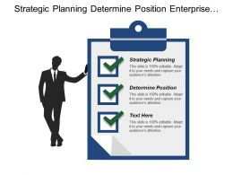 Strategic Planning Determine Position Enterprise Organized Management Structure