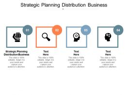 Strategic Planning Distribution Business Ppt Powerpoint Presentation Slides Graphics Tutorials Cpb