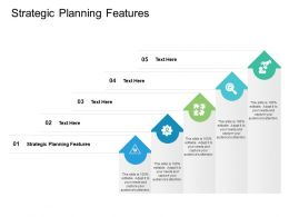 Strategic Planning Features Ppt Powerpoint Presentation Infographics Files Cpb