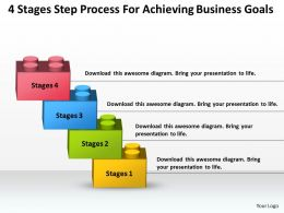 Strategic Planning For Achieving Business Goals Powerpoint Templates PPT Backgrounds Slides 4 Stages 0530