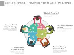 Strategic Planning For Business Agenda Good Ppt Example