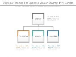Strategic Planning For Business Mission Diagram Ppt Sample