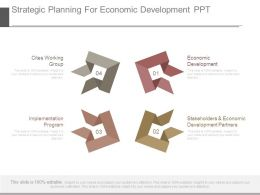 Strategic Planning For Economic Development Ppt