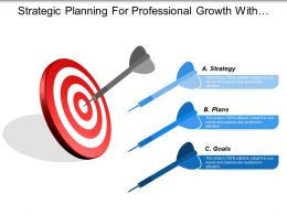 Strategic Planning For Professional Growth With Focus Arrow