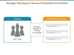 Strategic Planning For Success Presentation Powerpoint