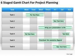 Strategic Planning Gantt Chart For Project Powerpoint Templates PPT Backgrounds Slides 0618