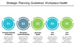 Strategic Planning Guidelines Workplace Health Wellbeing Business Model Cpb