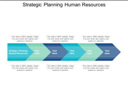 Strategic Planning Human Resources Ppt Powerpoint Presentation Infographic Template Icons Cpb