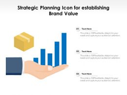 Strategic Planning Icon For Establishing Brand Value