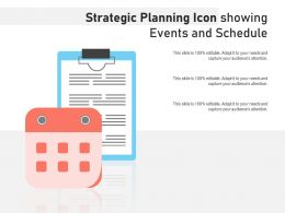 Strategic Planning Icon Showing Events And Schedule