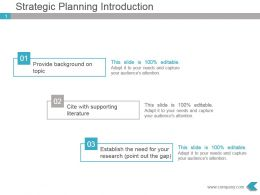 Strategic Planning Introduction Powerpoint Template Visual