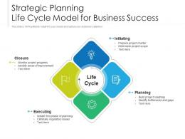 Strategic Planning Life Cycle Model For Business Success