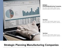 Strategic Planning Manufacturing Companies Ppt Powerpoint Presentation Infographic Cpb
