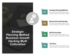 Strategic Planning Method Business Growth Hacking Multi Culturalism Cpb