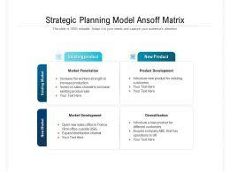 Strategic Planning Model Ansoff Matrix