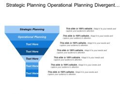 Strategic Planning Operational Planning Divergent Opportunities Customer Focused